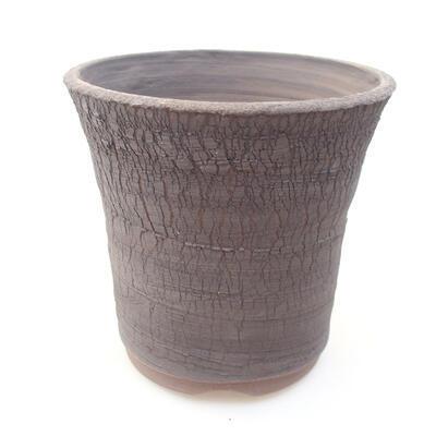 Ceramiczna miska bonsai 14 x 14 x 13 cm, kolor szary - 1