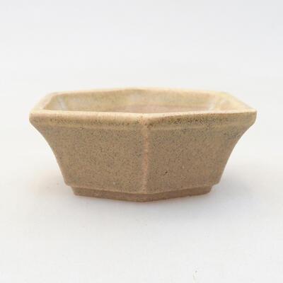 Mini miska bonsai 6 x 5 x 2 cm, kolor beżowy - 1