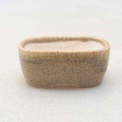 Mini miska bonsai 4 x 3 x 1,5 cm, kolor beżowy - 1