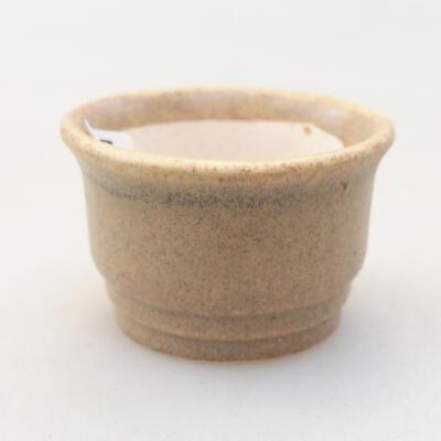 Mini miska bonsai 3,5 x 3,5 x 2 cm, kolor beżowy - 1