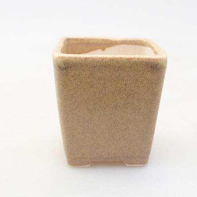 Mini miska bonsai 4,5 x 4,5 x 5 cm, kolor beżowy - 1