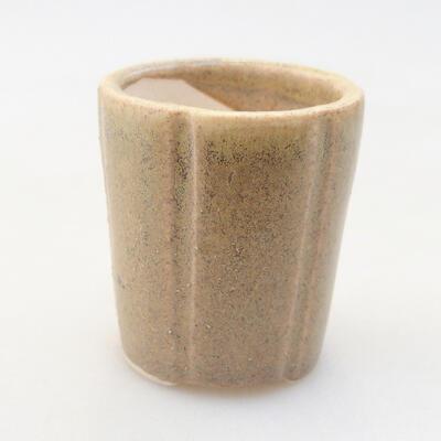 Mini miska bonsai 3,5 x 3,5 x 4 cm, kolor beżowy - 1