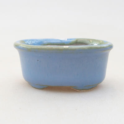 Mini miska bonsai 4 x 3,5 x 1,5 cm, kolor niebieski - 1