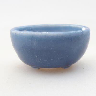 Mini miska bonsai 3,5 x 3,5 x 2 cm, kolor niebieski - 1