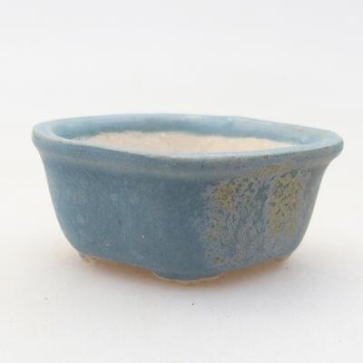 Mini miska bonsai 4 x 3 x 2 cm, kolor niebieski - 1