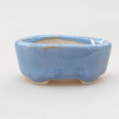 Mini miska bonsai 4 x 2,5 x 1,5 cm, kolor niebieski - 1