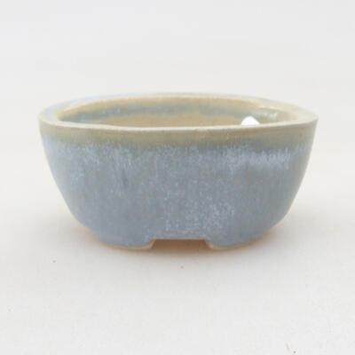Mini miska bonsai 4 x 3 x 3 cm, kolor niebieski - 1