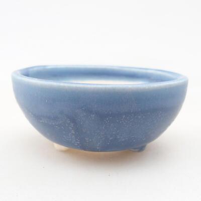 Mini miska bonsai 6 x 6 x 2,5 cm, kolor niebieski - 1