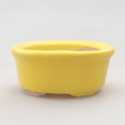 Mini miska bonsai 6 x 3,5 x 2 cm, kolor żółty - 1