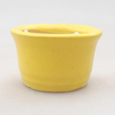 Mini miska bonsai 3 x 3 x 2 cm, kolor żółty - 1