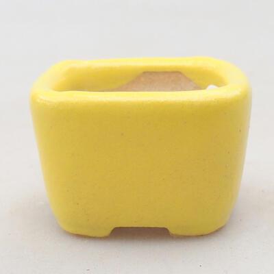 Mini miska bonsai 3,5 x 3,5 x 2,5 cm, kolor żółty - 1