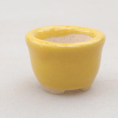 Mini miska bonsai 2 x 2 x 1,5 cm, kolor żółty - 1
