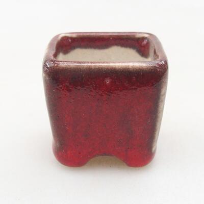 Mini miska bonsai 3 x 3 x 3 cm, kolor czerwony - 1