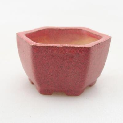 Mini miska bonsai 4 x 3,5 x 2 cm, kolor czerwony - 1