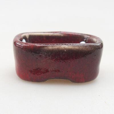 Mini miska bonsai 4 x 3 x 1,5 cm, kolor czerwony - 1