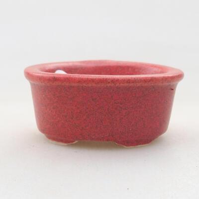 Mini miska bonsai 4 x 3 x 2 cm, kolor czerwony - 1