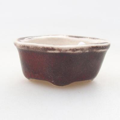 Mini miska bonsai 4,5 x 3,5 x 2 cm, kolor czerwony - 1