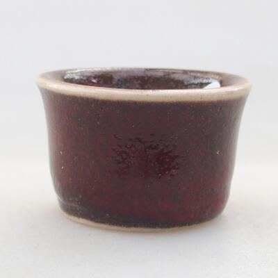 Mini miska bonsai 3 x 3 x 2 cm, kolor czerwony - 1