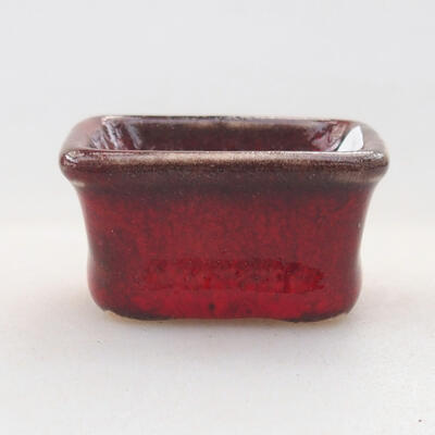 Mini miska bonsai 3 x 2,5 x 2 cm, kolor czerwony - 1
