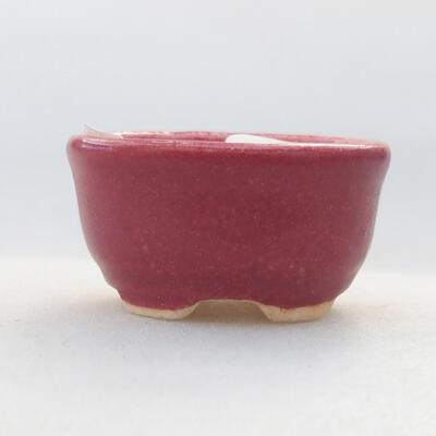 Mini miska bonsai 3 x 2,5 x 1,5 cm, kolor czerwony - 1