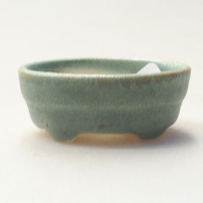 Mini miska bonsai 4 x 2,5 x 1,5 cm, kolor zielony - 1