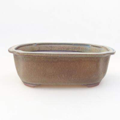 Ceramiczna miska bonsai 20,5 x 16,5 x 7 cm, kolor szary - 1