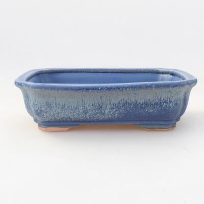 Ceramiczna miska bonsai 17 x 13,5 x 4,5 cm, kolor niebieski - 1
