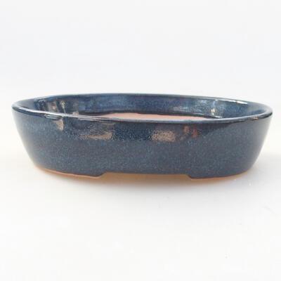 Ceramiczna miska bonsai 17 x 14 x 4 cm, kolor niebieski - 1
