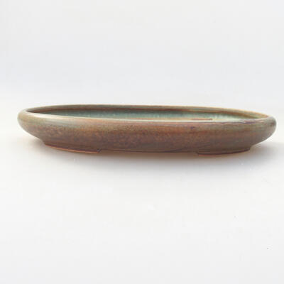 Ceramiczna miska bonsai 22 x 16 x 2,5 cm, kolor zielony - 1