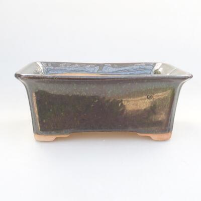Ceramiczna miska bonsai 17,5 x 14 x 6,5 cm, kolor zielony - 1