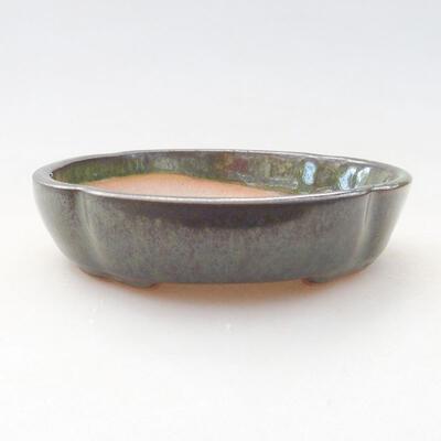 Ceramiczna miska bonsai 10,5 x 10,5 x 2,5 cm, kolor zielony - 1