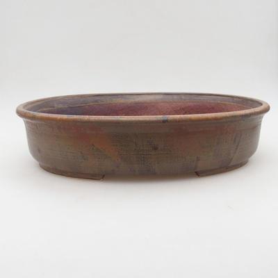 Ceramiczna miska bonsai 32 x 27,5 x 7,5 cm, kolor brązowy - 1