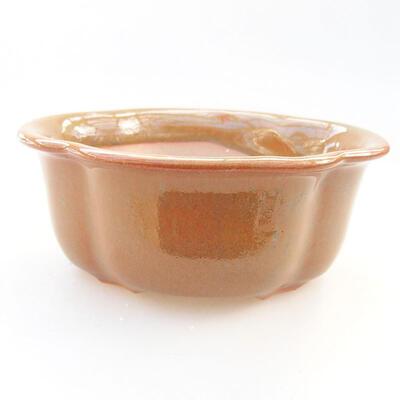 Ceramiczna miska bonsai 13 x 10,5 x 5 cm, kolor brązowy - 1