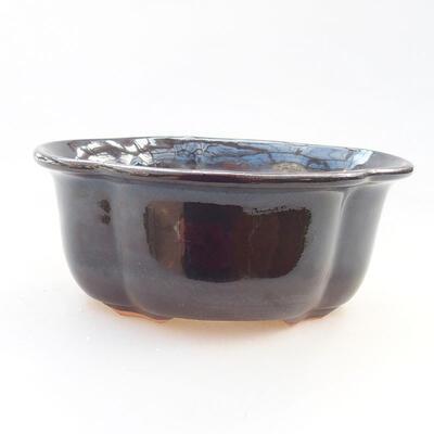 Ceramiczna miska bonsai 13 x 11 x 5,5 cm, kolor czarny - 1