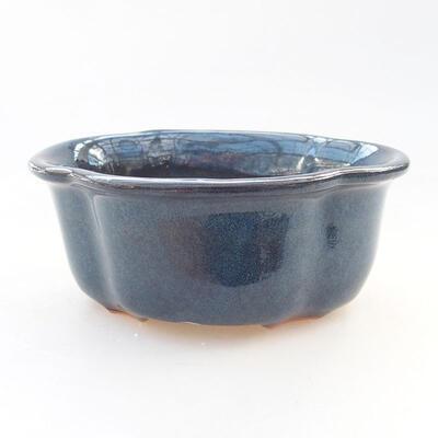 Ceramiczna miska bonsai 13 x 11 x 5,5 cm, kolor niebieski - 1