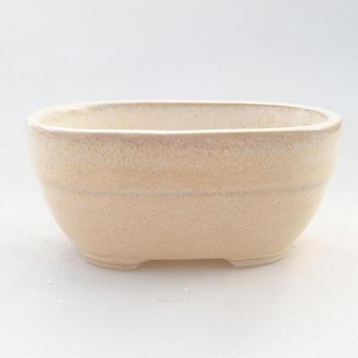 Ceramiczna miska bonsai 11,5 x 8 x 5 cm, kolor beżowy - 1