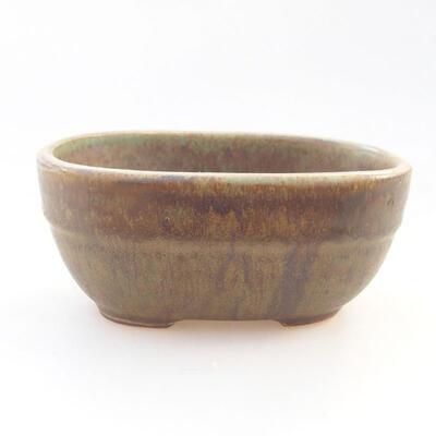 Ceramiczna miska bonsai 11,5 x 8 x 5 cm, kolor zielony - 1