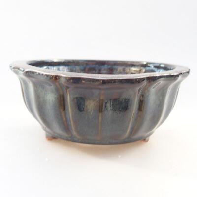Ceramiczna miska bonsai 10,5 x 10,5 x 4,5 cm, kolor niebieski - 1