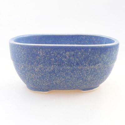 Ceramiczna miska bonsai 11,5 x 8 x 5 cm, kolor niebieski - 1