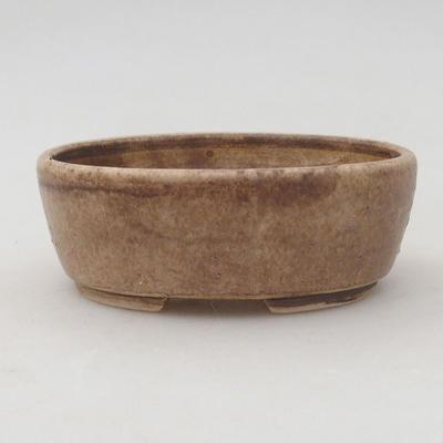 Ceramiczna miska bonsai 9,5 x 8,5 x 3,5 cm, kolor beżowy - 1