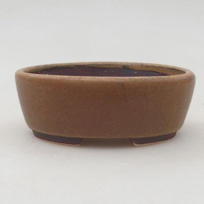 Ceramiczna miska bonsai 9,5 x 8,5 x 3,5 cm, kolor brązowy - 1