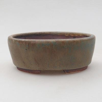 Ceramiczna miska bonsai 9,5 x 8,5 x 3,5 cm, kolor brązowo-niebieski - 1