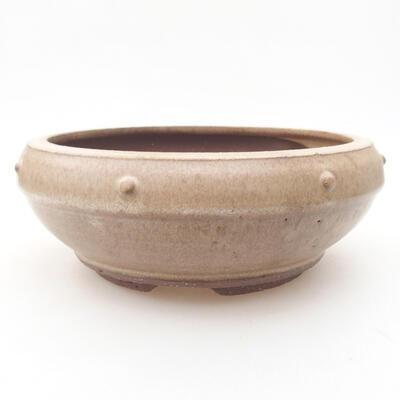 Ceramiczna miska bonsai 17 x 17 x 6,5 cm, kolor brązowy - 1