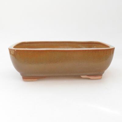 Ceramiczna miska bonsai 22 x 17 x 7 cm, kolor brązowy - 1