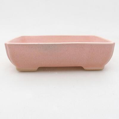 Ceramiczna miska bonsai 13,5 x 10,5 x 3,5 cm, kolor różowy - 1