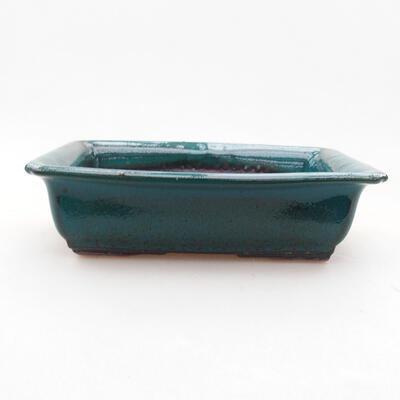 Ceramiczna miska bonsai 13,5 x 10 x 3,5 cm, kolor zielony - 1