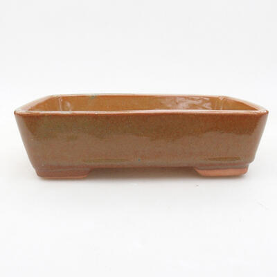 Ceramiczna miska bonsai 17,5 x 13 x 5 cm, kolor brązowy - 1