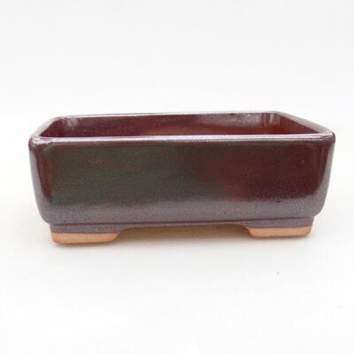 Ceramiczna miska bonsai 14,5 x 11 x 5 cm, kolor brązowy - 1