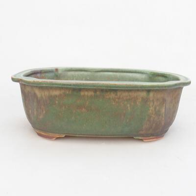 Ceramiczna miska bonsai 21,5 x 16,5 x 7 cm, kolor zielony - 1