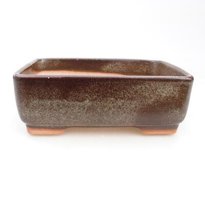 Ceramiczna miska bonsai 14,5 x 11 x 5 cm, kolor szary - 1